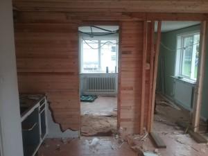 Före: ombyggnad kök på Tröskvägen
