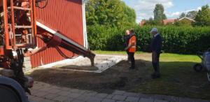 Före: gjutning grund Hissjö