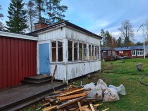 Före: renovering och fönsterbyte Norrmjöle