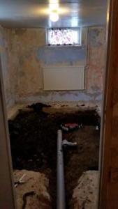 Före: renovering tvättstuga, Klövervägen